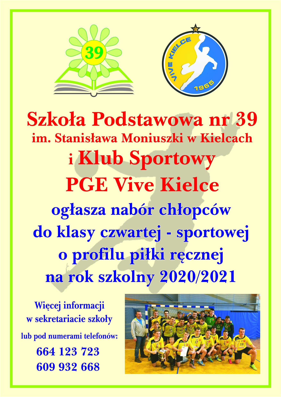 Nabór chłopców do klasy czwartej-sportowej!